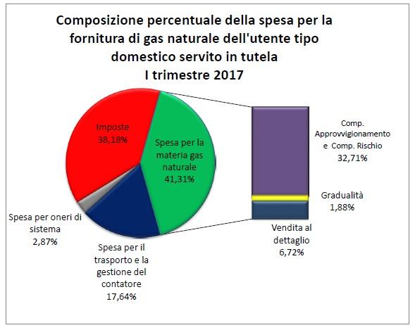 Spesa Fornitura Gas Naturale Domestico Tutela