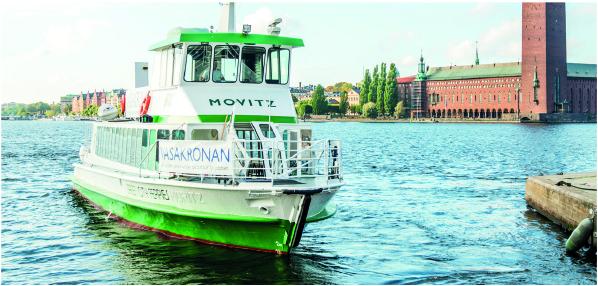 Traghetto Elettrico Movitz Per Larcipelago Di Stoccolma