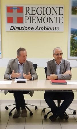 Da Sinistra Giorgio Ferrero Assessore Agricoltura Reg. Piemonte E Alberto Valmaggia Assessore Ambiente Reg. Piemonte 1