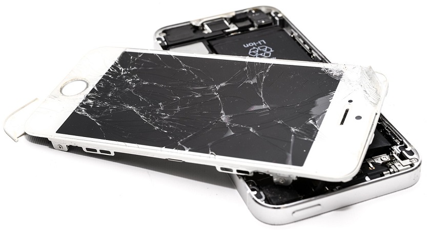 smartphone rotto batterie litio