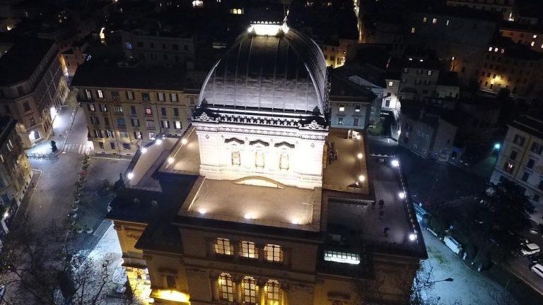 Nuova luce a Led per la Sinagoga di Roma