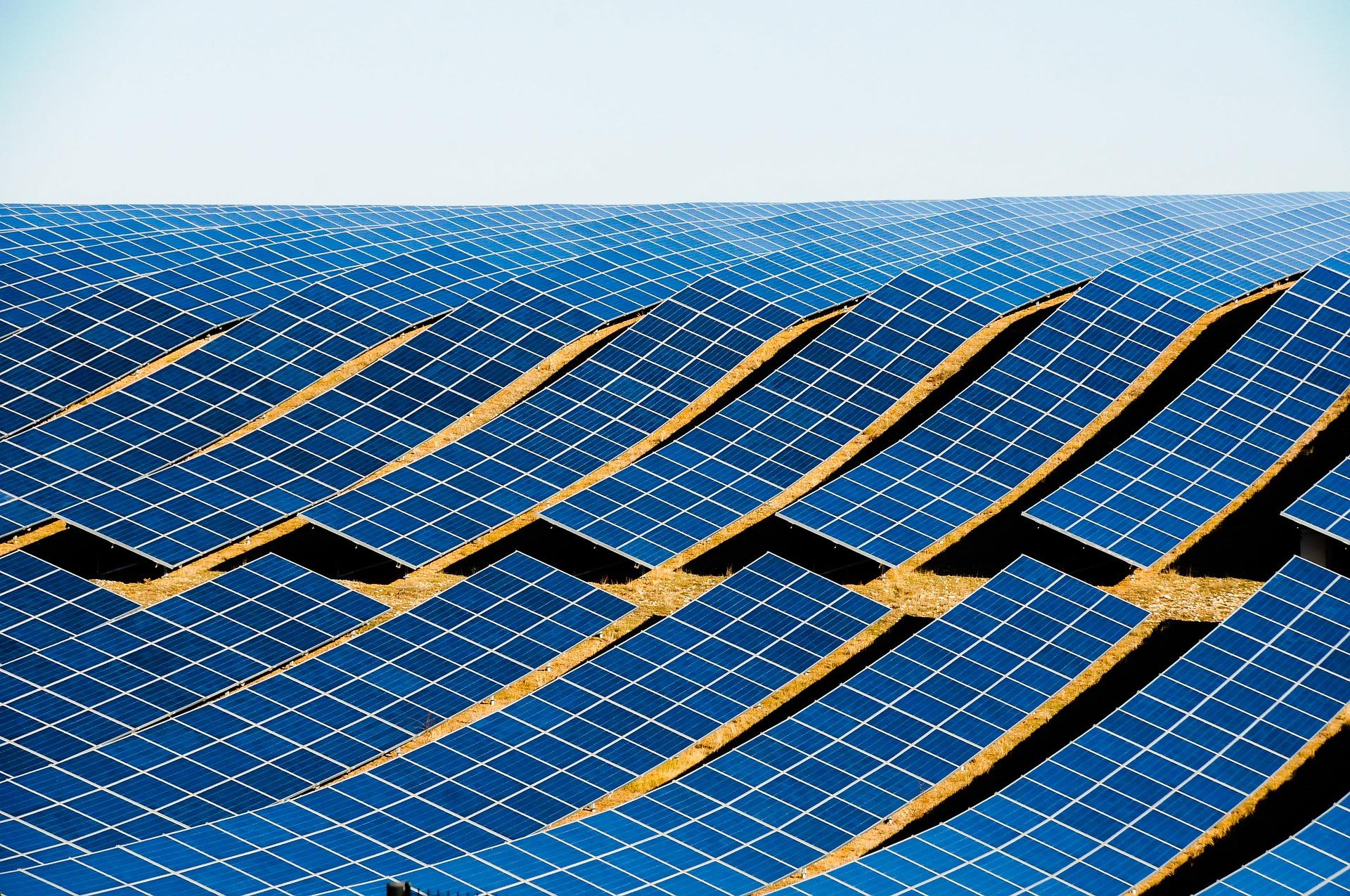 Campo di pannelli fotovoltaici
