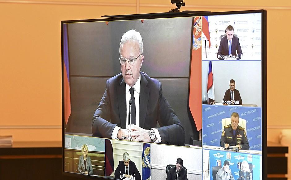 danno ambientale siberia il ministro delle Emergenze al rapporto da Putin