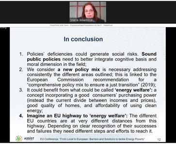 sei raccomandazioni per la povertà energetica