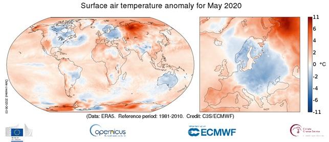 temperature maggio 2020