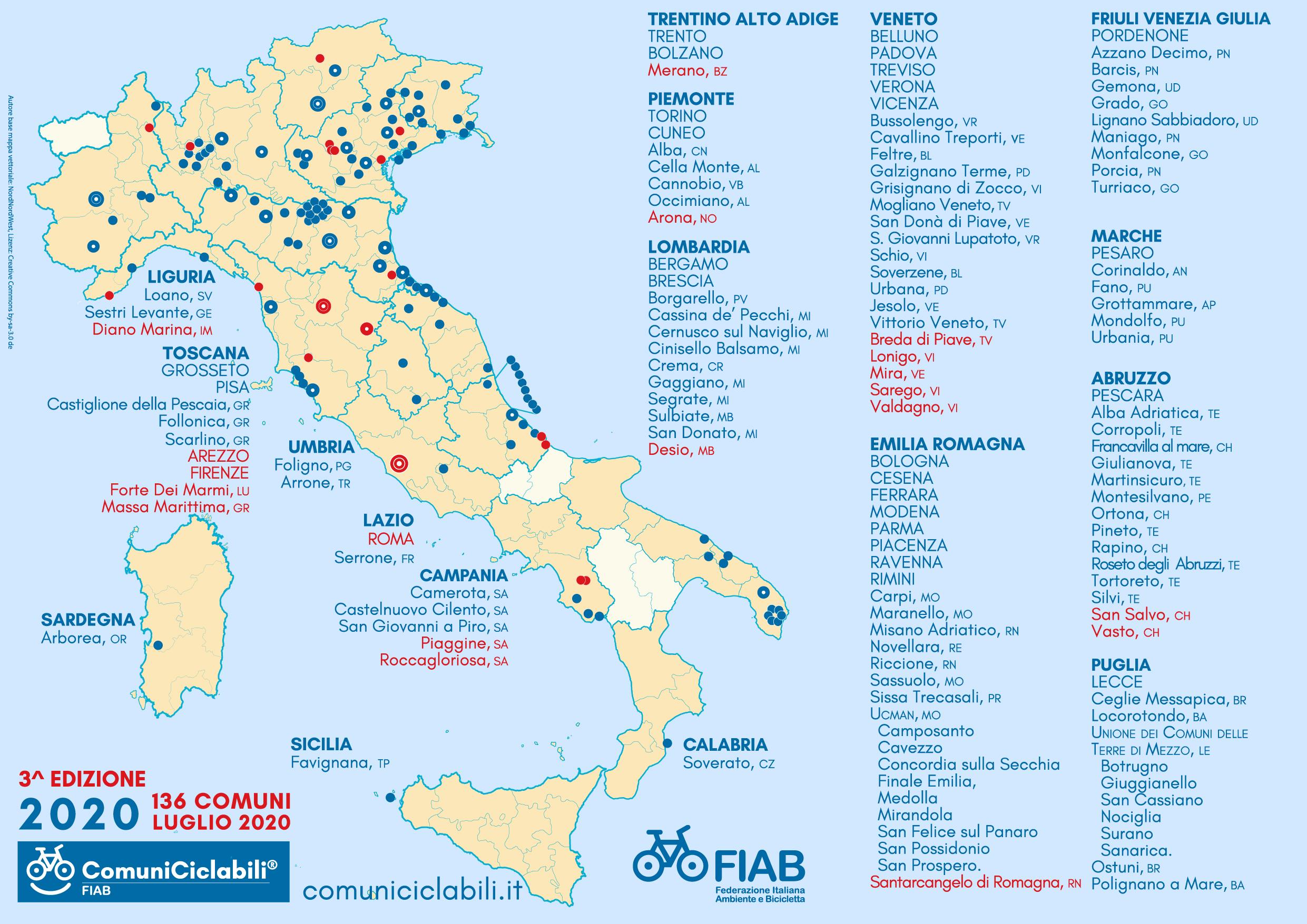 ComuniCiclabili Bandiera Gialla 01_a_mappa_FIAB_ComuniCiclabili_terza_edizione_2020_luglio