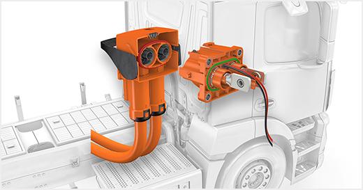 connettori veicoli elettrici in serie