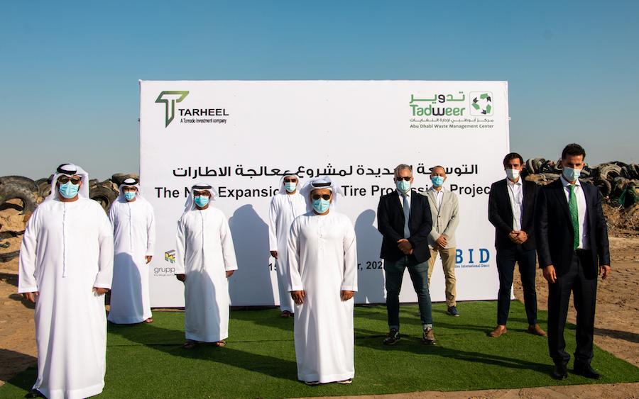 foto inaugurazione Inaugurato l'impianto di trattamento degli pneumatici fuori uso dell'italiana Gruppo Maio ad Abu Dhabi Gruppo Maio