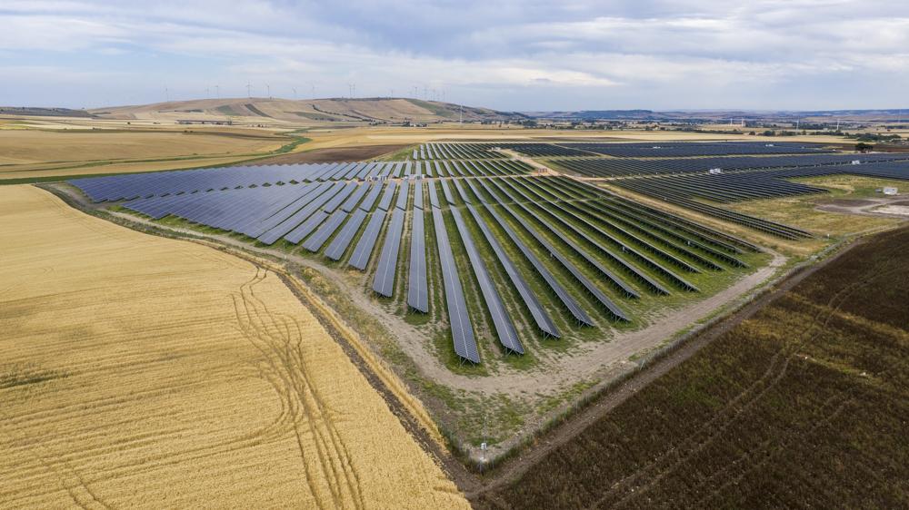 Il parco fotovoltaico di Troia, in provincia di Foggia (European energy)