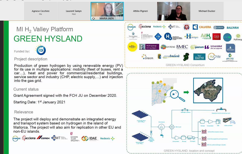 Green Hysland all'isola di Majorca. Maria Jaén Caparros di Innovation&New Eenergies, Enagàs,