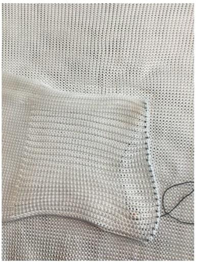 Tessuto realizzato in polietilene fonte Svetlana Boriskina