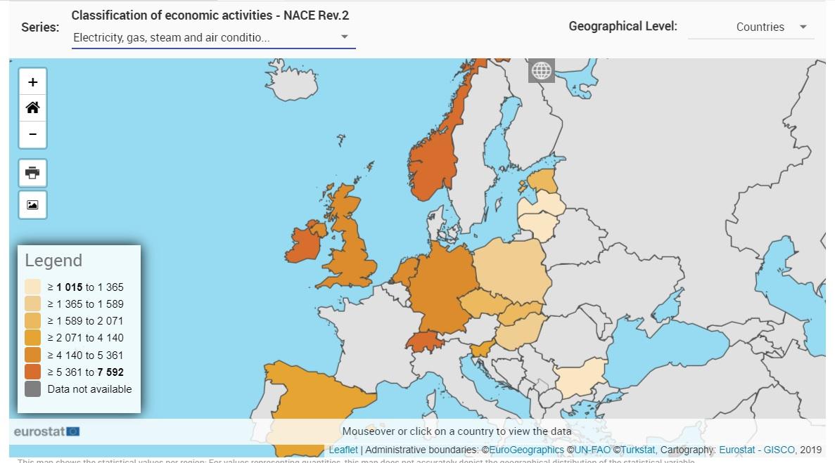 classificazione salari energia in europa