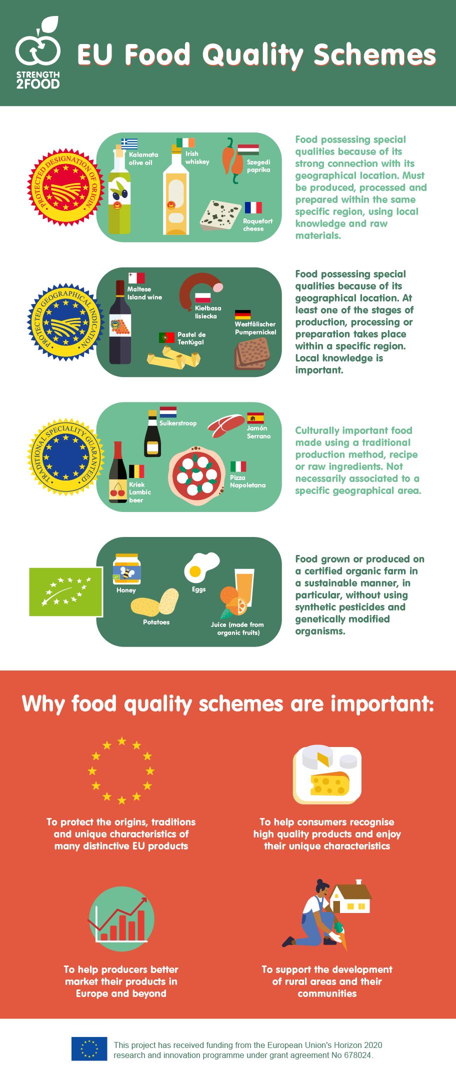 infografica della Guida Strategica per gli Schemi di Qualità Alimentari sostenibili (SQA).