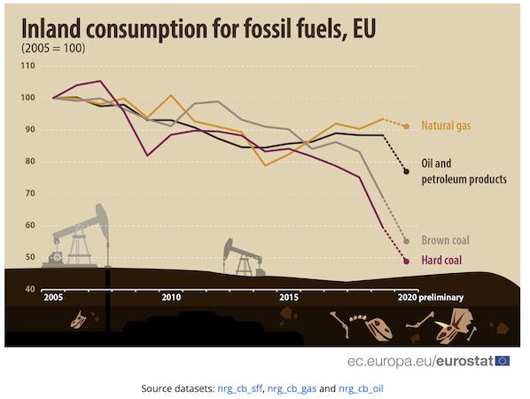 riduzione interna consumo fonti fossili