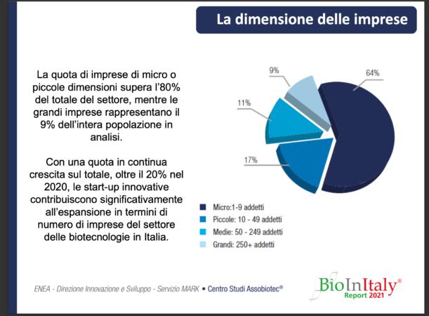 La dimensione delle imprese biotech