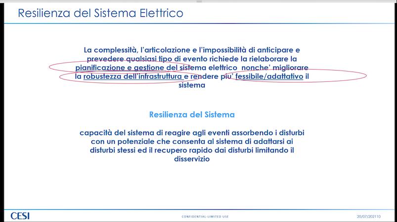 Resilienza del sistema elettrico